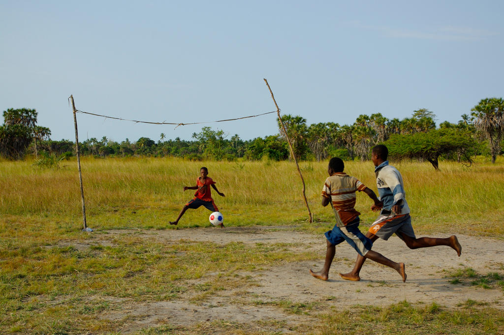 Football players in the jungle by CunisiaInc