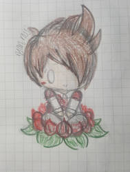 ryan ross in a rose by RinaLin727