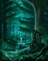 Legend Of Zelda - The Lost Woods by GingerbreadPunks