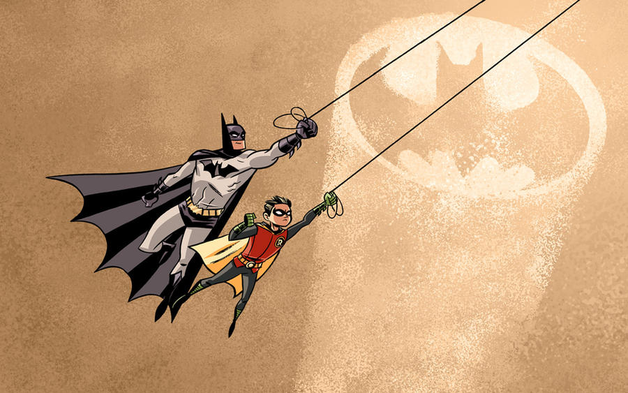 Batman and Robin by dryponder