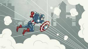 Captain America by dryponder