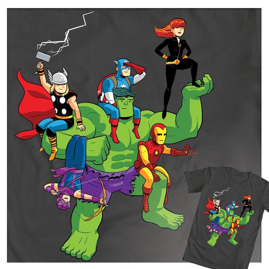 Shirt design rates - Avengers Assembled T Shirt By Dryponder