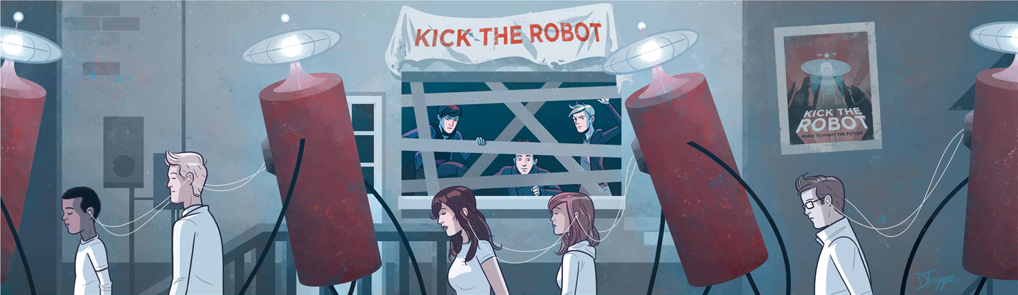 Kick the Robot, album art interior by dryponder
