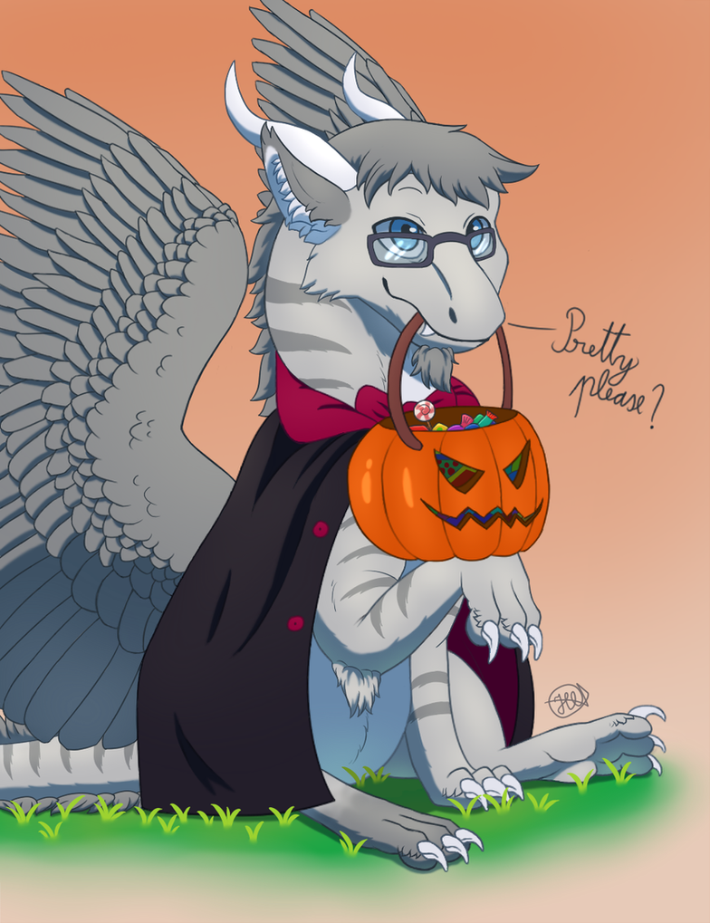 Halloween YCH - second finished ^^ by Aid-the-dragon