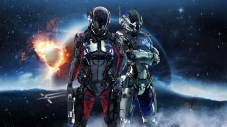 .:Mass Effect Protagonists Blender Render:. by SniperGiirl