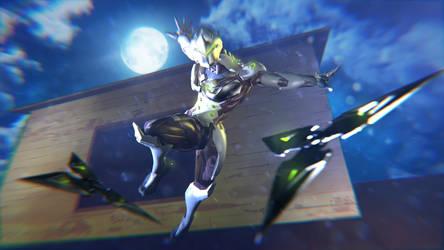 .:Genji Attacks Again:. by SniperGiirl