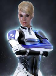 .:Mass Effect Cora Harper Blender Render:. by SniperGiirl