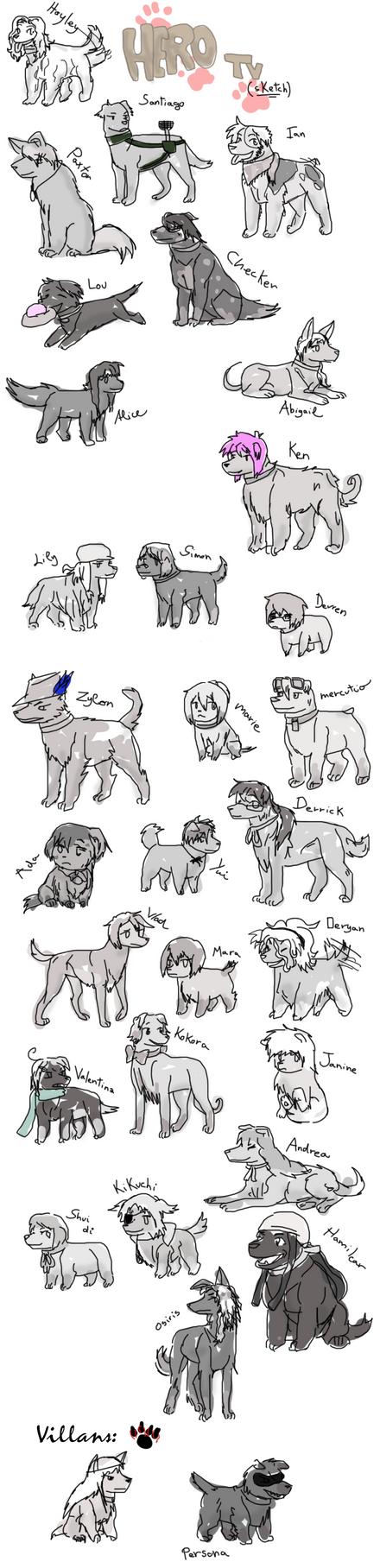 Hero TV + Dogs by XONesquikiOX