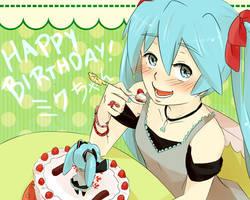 HAPPY BIRTHDAY MIKU-CHAN!! [2012] by IggiescaAsdy