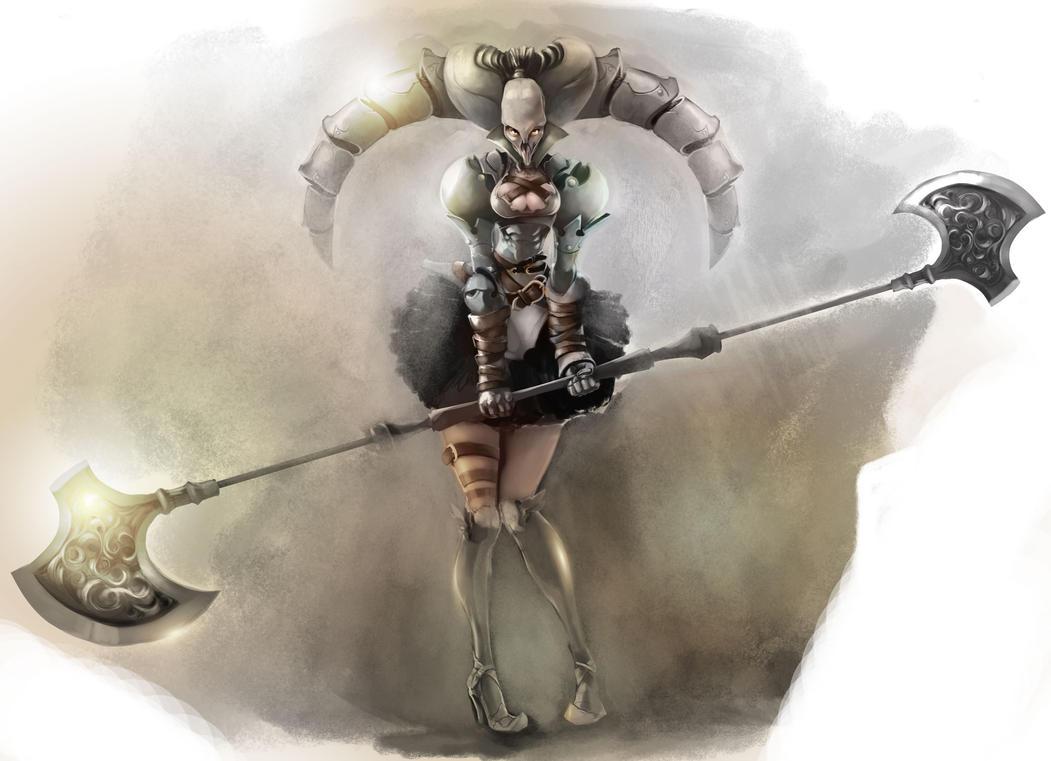 axe warrior by kofab on DeviantArt