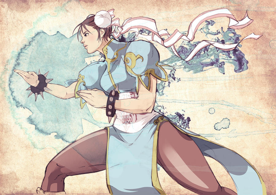 chunli doodle by kofab