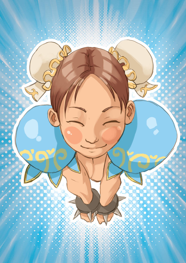 Chunli cartoon by kofab