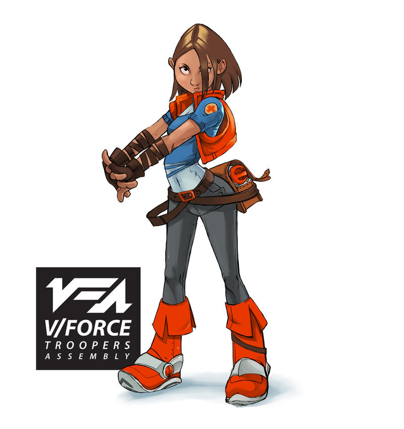 V|Force Troopers Assembly Melissa Character design by kofab
