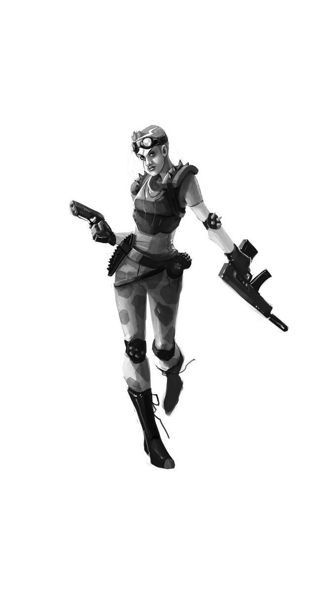 Mortal-Kombat Sonya by kofab
