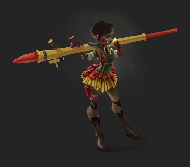 WarWorld Concept Character Designs - Ayanda by kofab