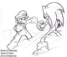 Mario vs Sonic - 01 by CKT-INC