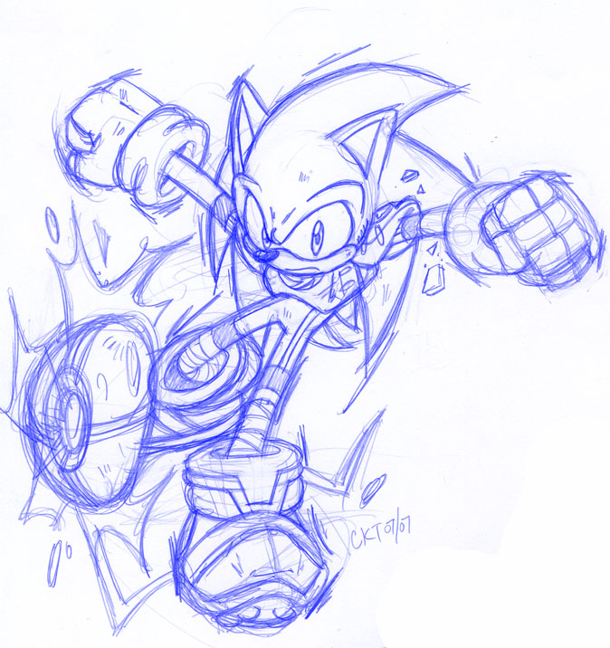Striker charged sonic redone by ckt inc on deviantart for Mario strikers coloring pages