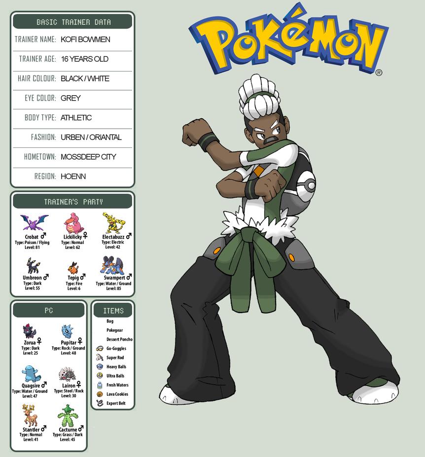 Pokemon Oc Kofi Bowmen By Ckt Inc On Deviantart