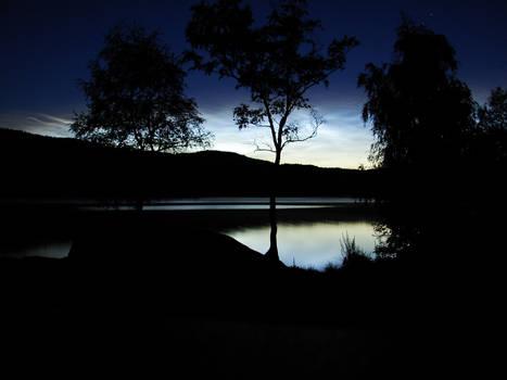 Lake at Night Wallpaper