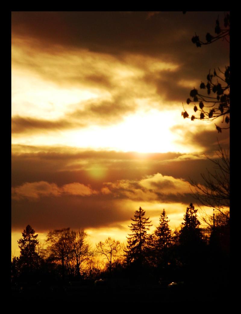 October Sunset I