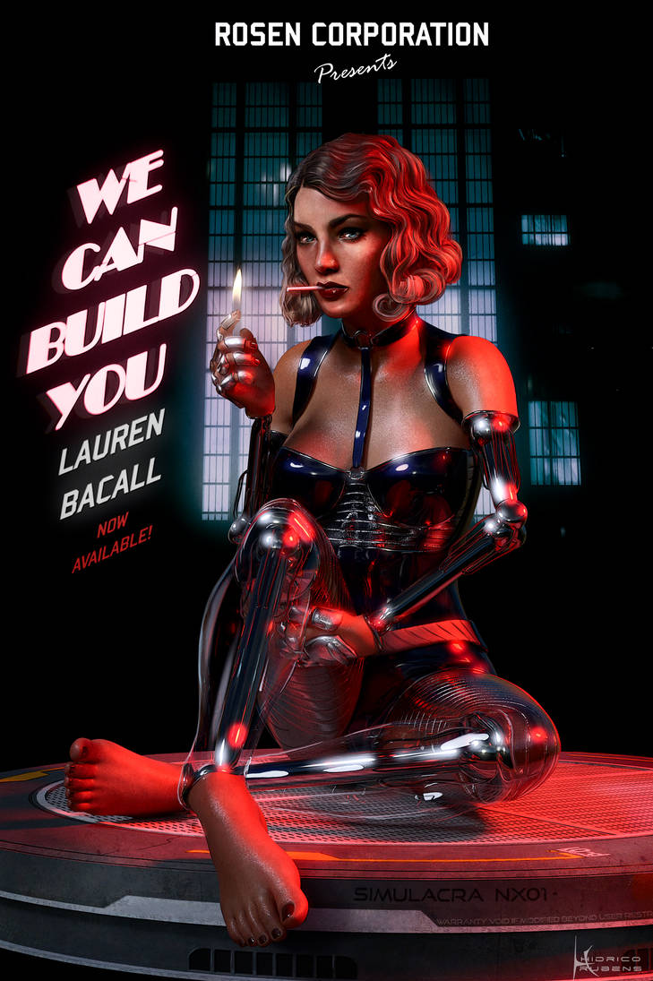 Simulacra - Lauren Bacall by Hidrico