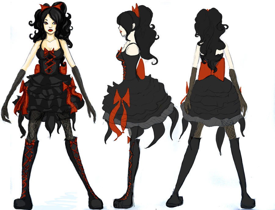 Character Design Side View : Bad final front back and side by sandti on deviantart