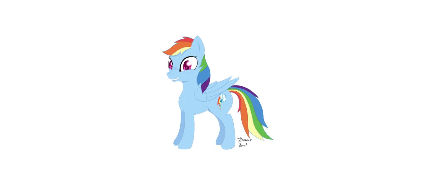 Rainbow Dash Hates Standing Still by heinrich2oo5