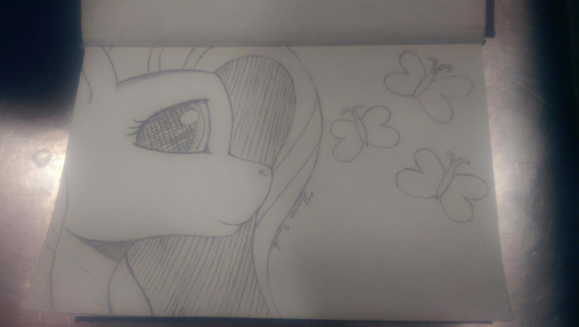 Fluttershy Sketch by heinrich2oo5