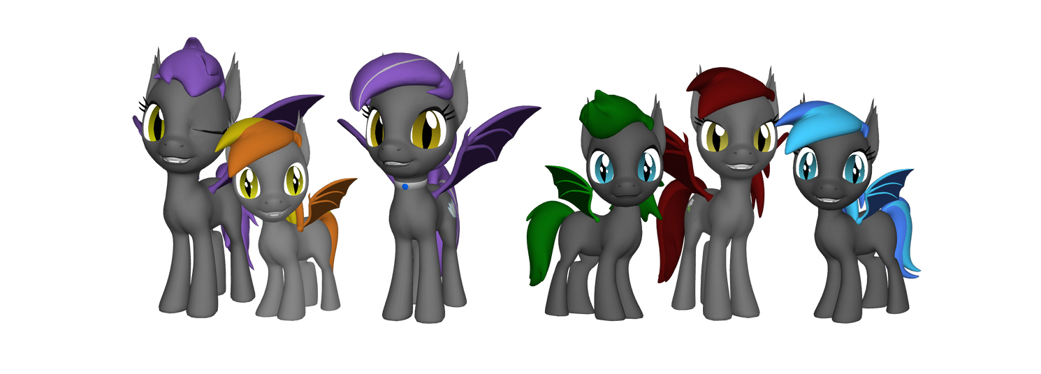 Bat Pony Family by heinrich2oo5