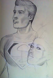 Superboy/Supergirl by seanpatrick76