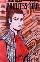 Princess Leia Sketch Cover by seanpatrick76