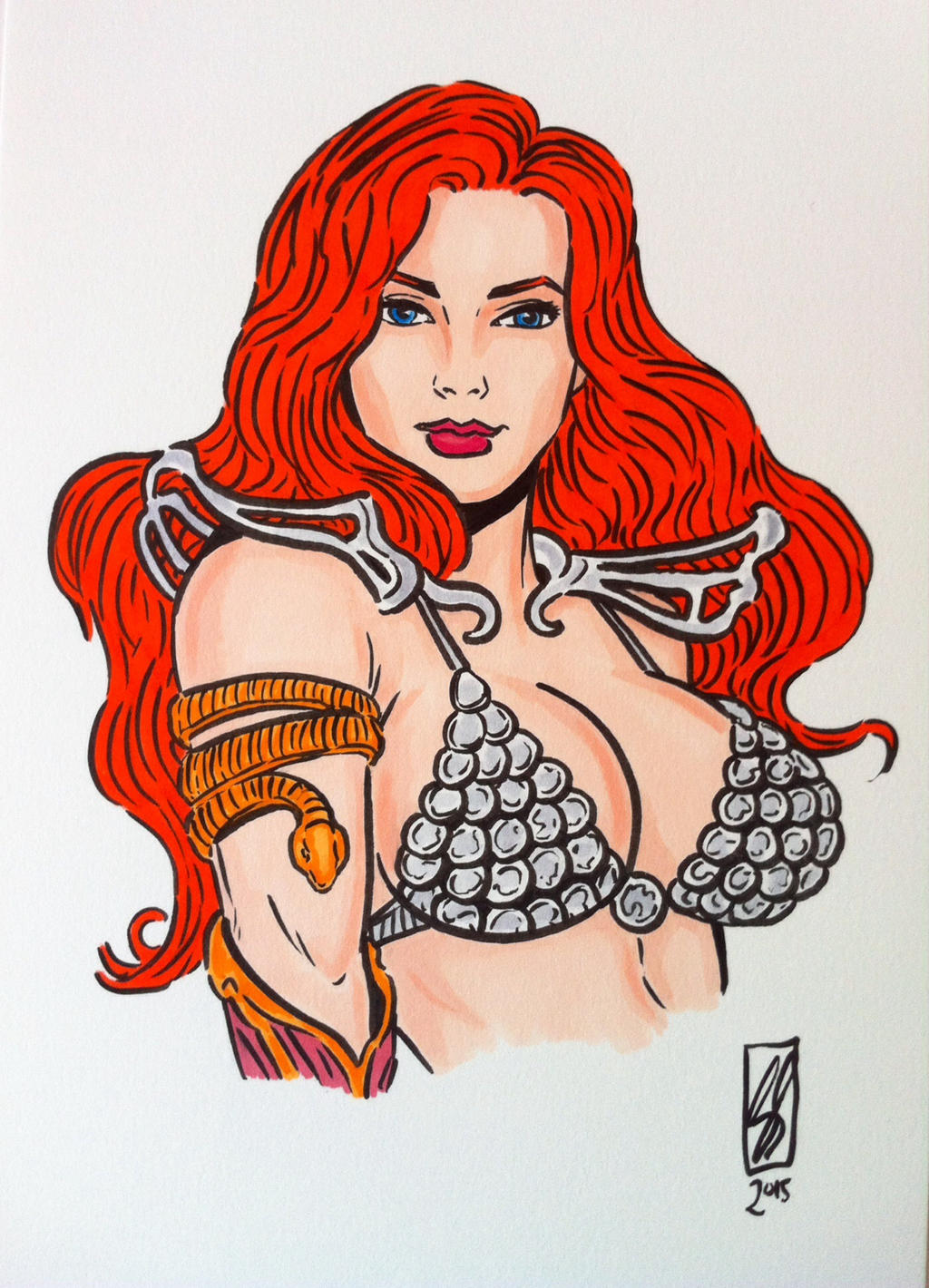 Red Sonja by seanpatrick76