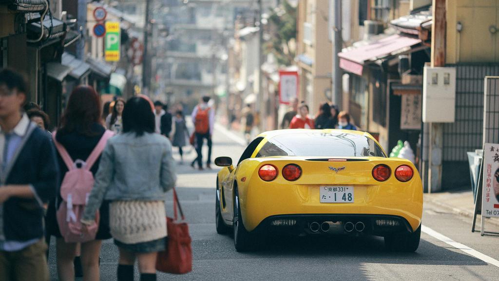 Corvette in Kyoto, Japan 2014