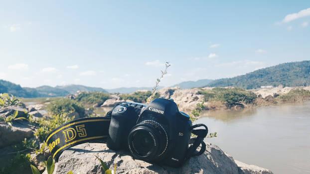 My camera near Maekong River