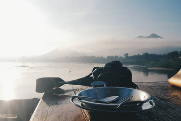 Breakfast with a fantastic landscape