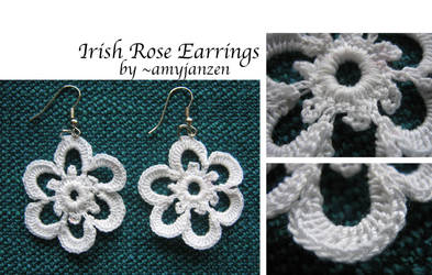 irish Rose Earrings by amyjanzen