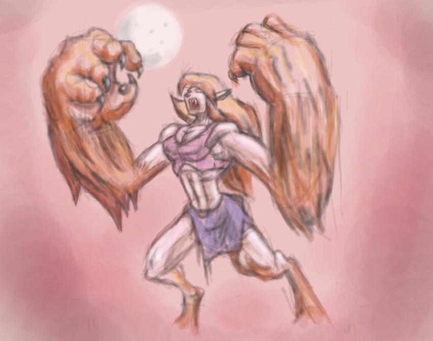 Werewolf transform 2 by Tentu
