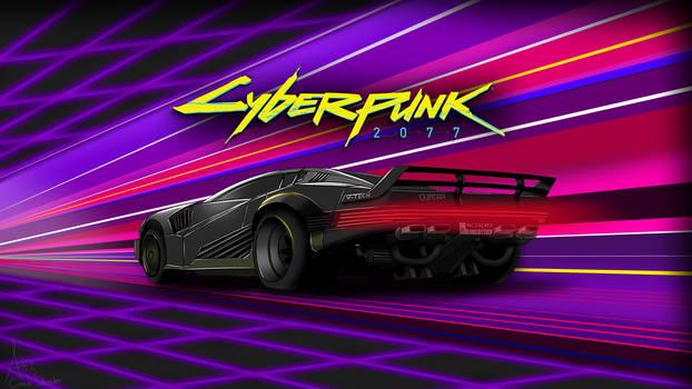 Cyberpunk 2077 Car - Synthwave