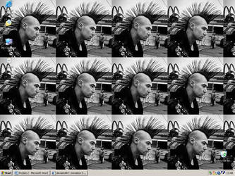 Mohawk Wallpaper by Lisa-Hazza