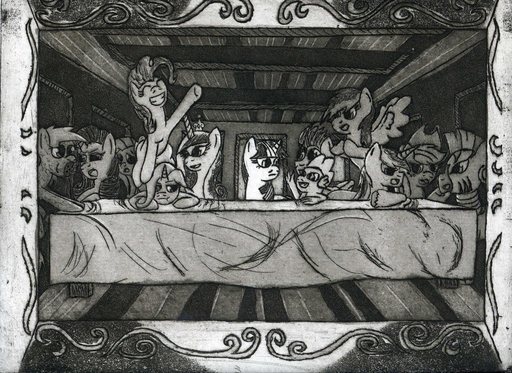 Twilight Sparkle's Last Supper (Third Print) by The1King