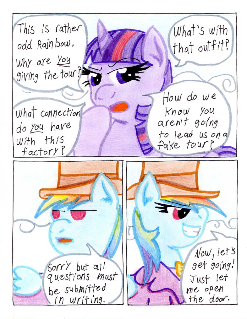 Fluttershy and the Rainbow Factory P. 14 by The1King