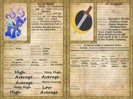 Azure Night's Character Sheet by The1King