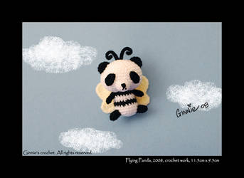 Flying Panda by ginnieair