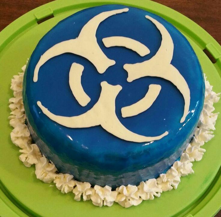 Biohazard Birthday Cake