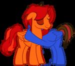 Jordan Hugging Goldenfox