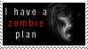 Zombie Plan Stamp by waterwish