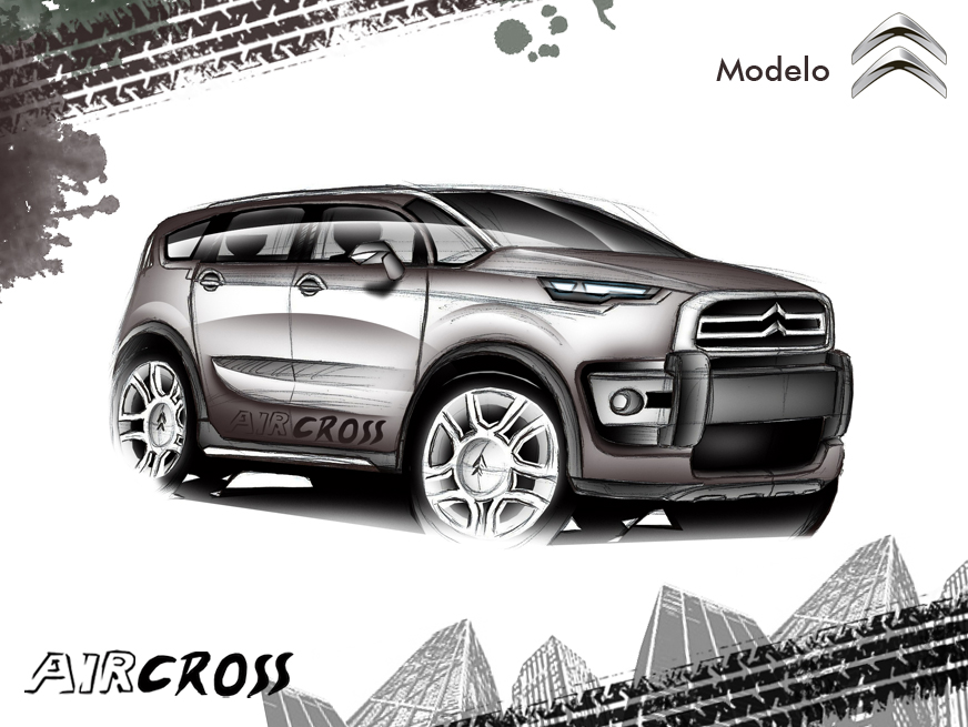 concept new citroen c3 aircross 2014 brazil by alexandredesign on deviantart. Black Bedroom Furniture Sets. Home Design Ideas