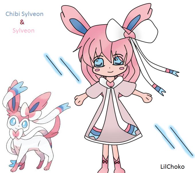 Sylveon Chibi Form by LilChoko on DeviantArt
