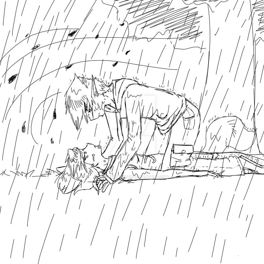Rainy day sketch by whitekitsune1