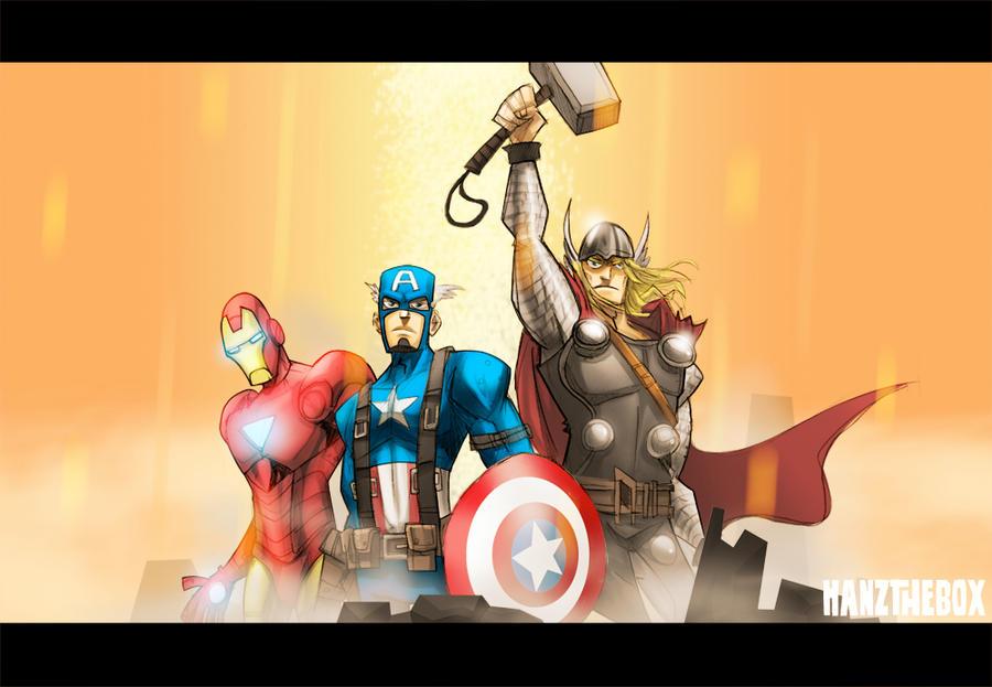 Avengers Assemble by hanzthebox